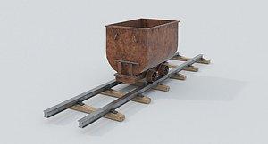 3D coal wagon