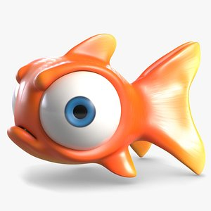 3D Angry Cartoon Fish