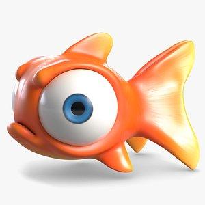 3D Angry Cartoon Fish