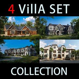 3D villa exterior model
