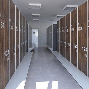 locker room lock 3D model
