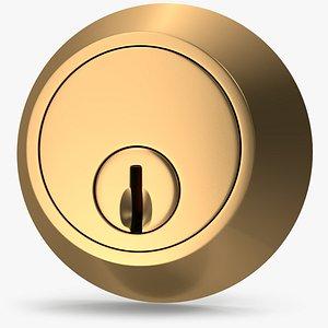 3D Door Lock Golden V01