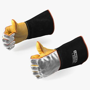 3D Lincoln Electric Reflective Welding Gloves Thumbs Up Gesture