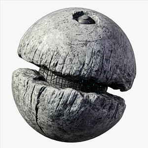 3D Death Moon Planet Sci-Fi Real Time model