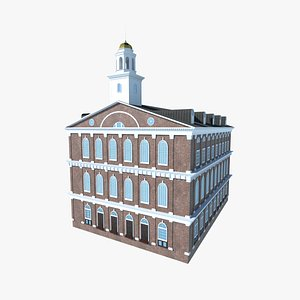 3D faneuil hall visitor center model