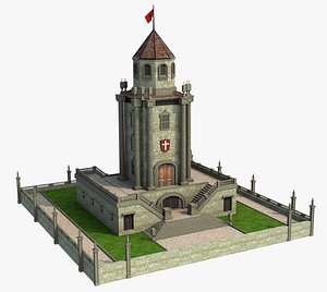 3D Fantasy Tower middle ages. model