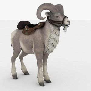 Big horn Goat Rigged and Animated 3D model
