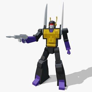 Transformers G1 Kickback 3D
