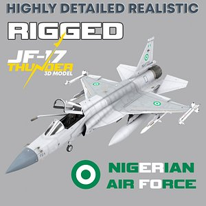 3D jf-17 rigged