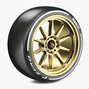 F1 Pirelli 18 Inch Hard Tyre 3D model