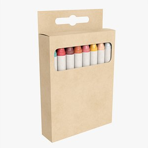 3D Crayons in hanging box