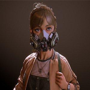 3D model girl child people