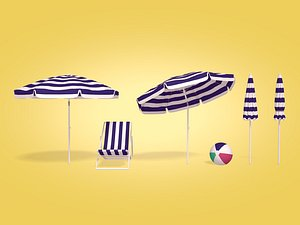 3D beach parasol