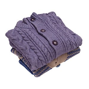 3D model mens sweaters stack folded