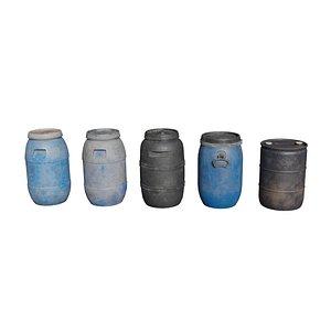 Plastic barrels 3D