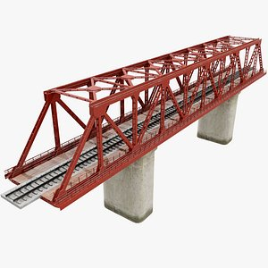 3D model Railway Bridge v3 Pbr