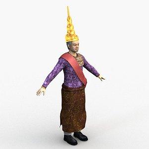 3D model king cambodia