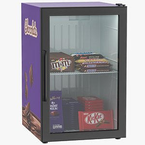 3D refrigerator display chocolate model