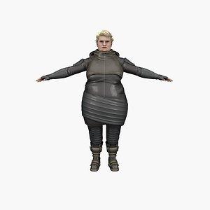 Fat Danielle 3D model
