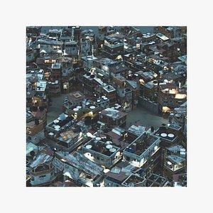Favela Slums City Mega Kit Pack 3D model