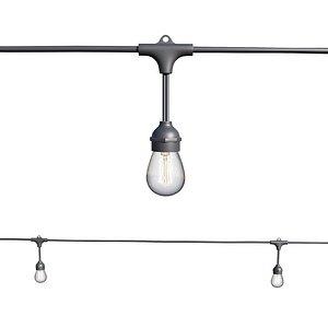 String Lights Edison Lamps 3D