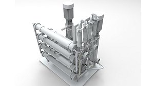 osmosis unit industrial 3D