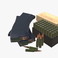 5-45x39 Ammo Pack Low-poly