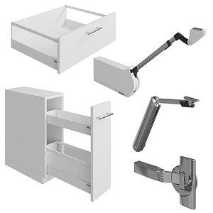 3D Blum Furniture Fittings