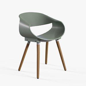 Matteo Cafe Chair pastle green 3D model