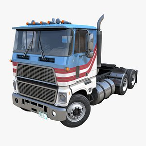3D American cabover tractor PBR