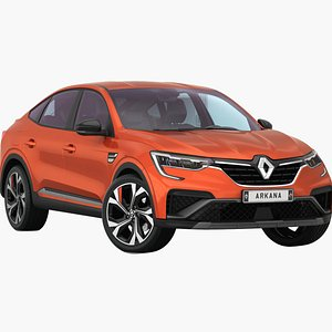 3D Renault Arkana 2022 Low interior