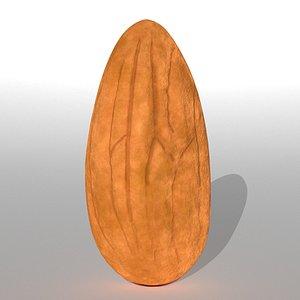 3D almond nuts food