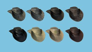 Folded Hat Collection - Character Fashion Design 3D model