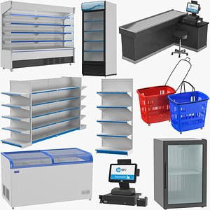 Supermarket Items Collection 3D model