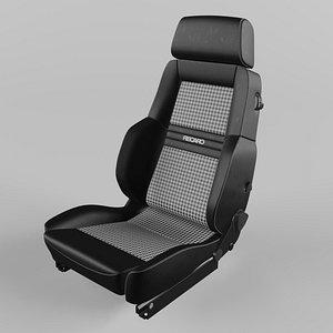3D RECARO Expert Comfort Houndstooth Seat model