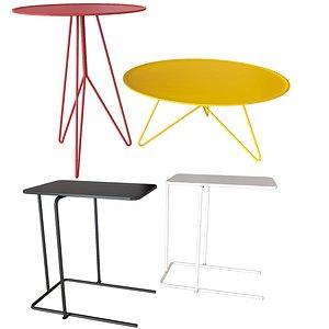 set coffee tables miniforms 3D