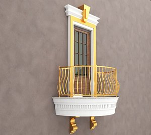 Balcony Windows 1 3D model