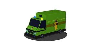 3D Biohazard cargo transportation vehicle Low poly model
