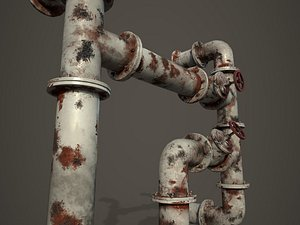 pipes old 3D model