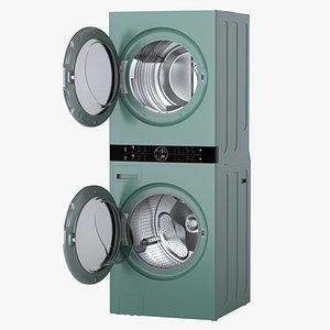 Washer Dryer Combo 3D