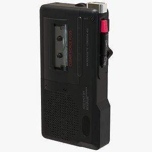 3D microcassette tape recorder s model