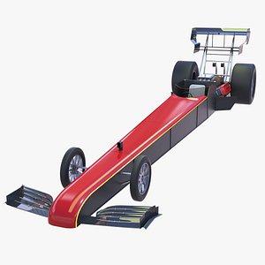3D Top Fuel Dragster model