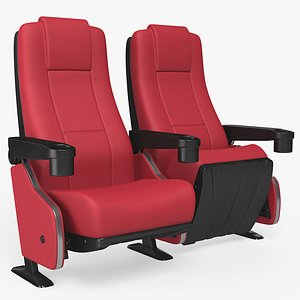 Cinema Chair Red PBR 8K Textures model