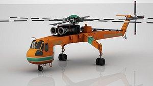 S-64 SkyCrane 3D model