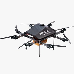 Amazon Prime Air Delivery Drone Lowpoly PBR 3D model