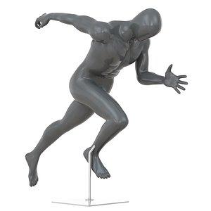 faceless running mannequin 79 3D