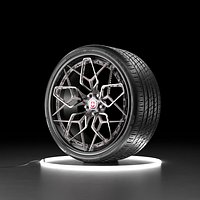 Car wheel NEXEN NFERA SU1 tire with HRE HRE3D rim
