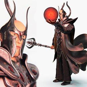 Fantasy  dark wizard 3D