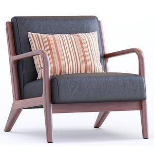 3D model Leather Armchair Ronaldo By Mistana