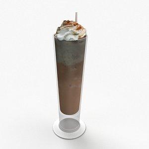 3D vanilla iced latte model